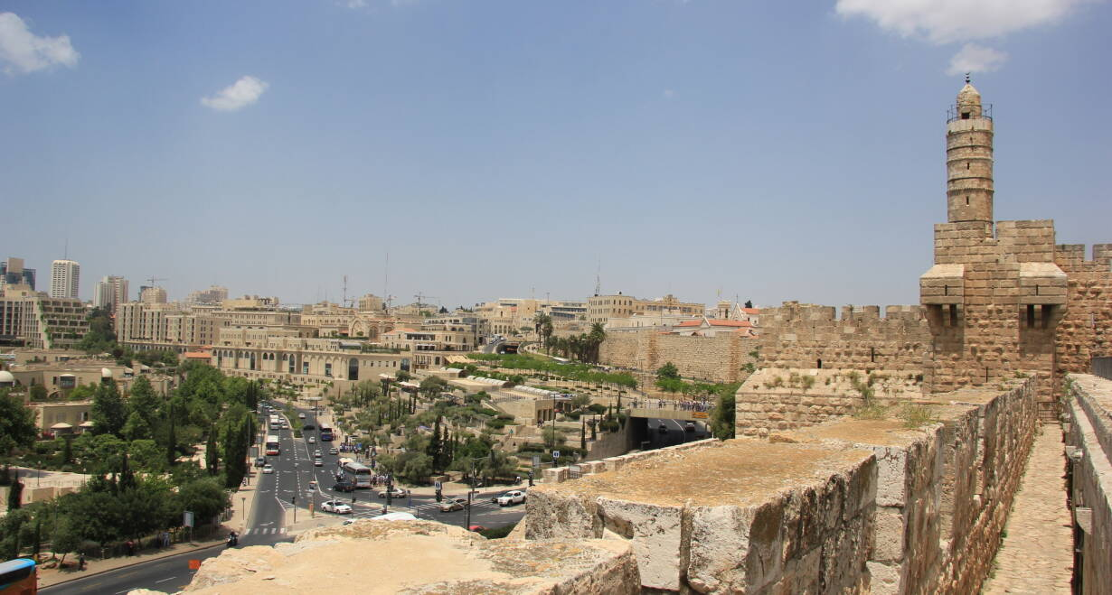 Israël en het Overjordaanse - IsraelJeruzalem, de Stad van koning David - wandeling muren van Jeruzalem – Tunnels van Hizkia