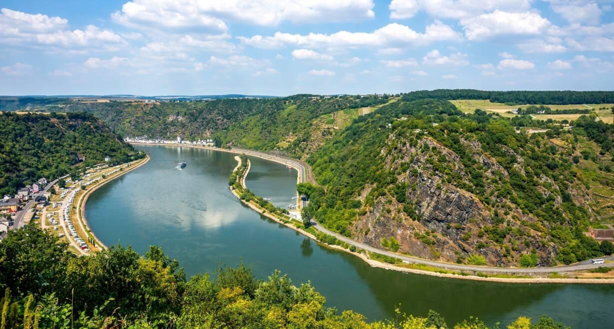 15-daagse Vierlandencruise naar Basel in Zwitserland, Berg- en Dalvaart - DuitslandRüdesheim – Koblenz; Loreley Passage