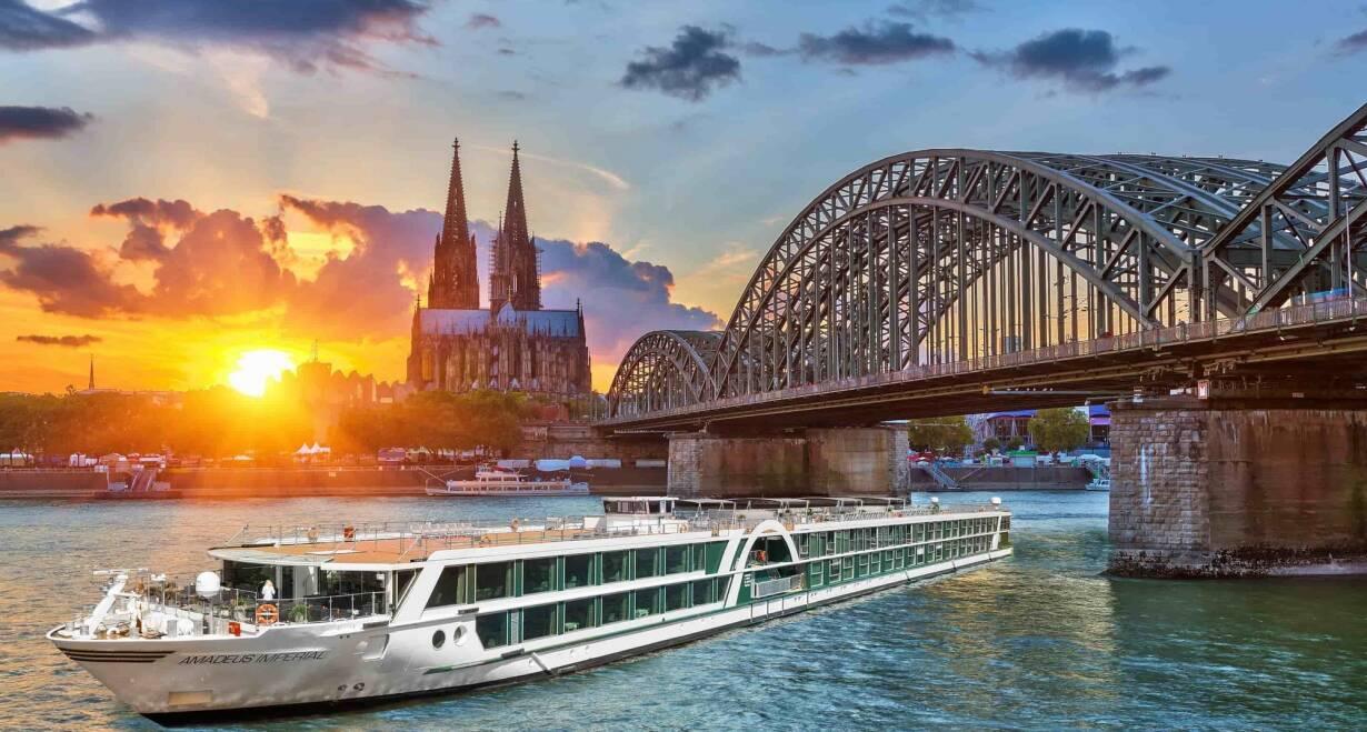 15-daagse Vierlandencruise naar Basel in Zwitserland, Berg- en Dalvaart - DuitslandKeulen – Rotterdam