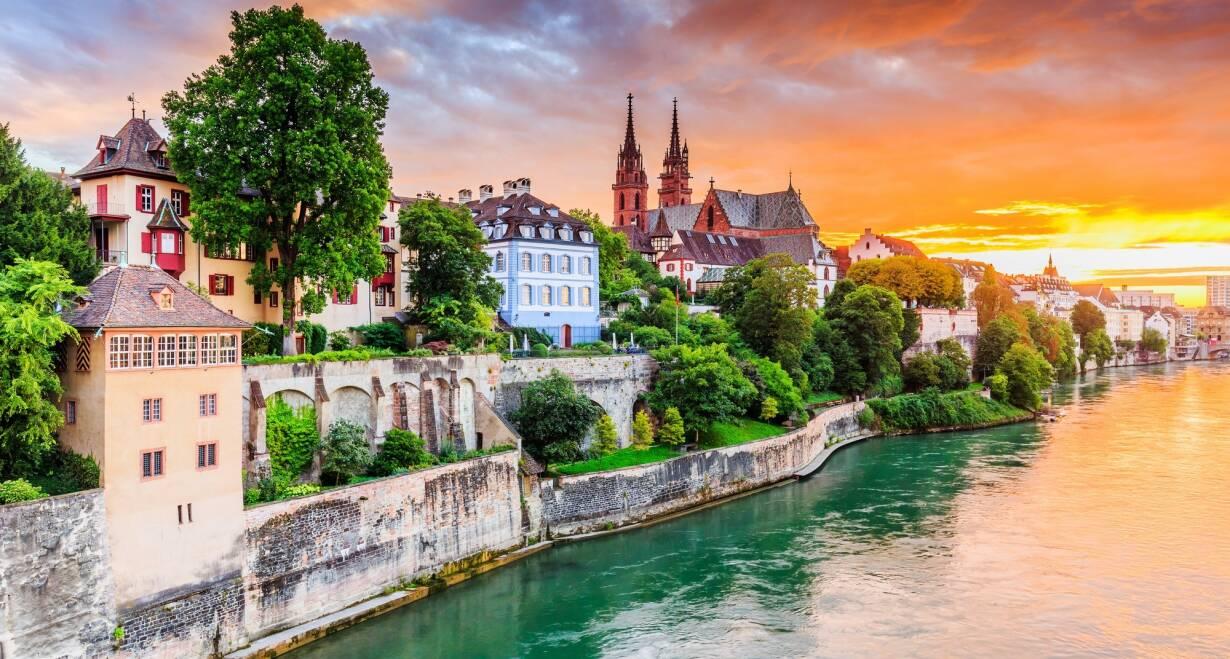 Vierlandencruise Bergvaart naar Basel in Zwitserland - DuitslandOntscheping in Basel