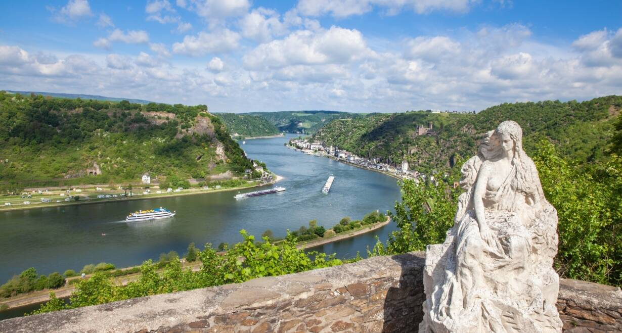 Vierlandencruise naar Zwitserland, Dalvaart - DuitslandRüdesheim – Koblenz; Loreley Passage
